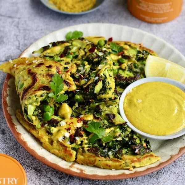 Broccoli Pea Savoury Pancake
