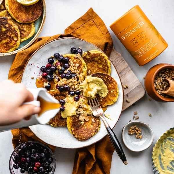 Golden Vegan Pancakes